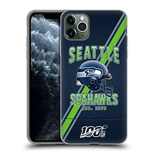 Head Case Designs Offizielle NFL Football Streifen 100ste 2019/20 Seattle Seahawks Soft Gel Handyhülle Hülle Huelle kompatibel mit Apple iPhone 11 Pro Max