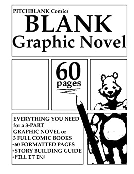Blank Graphic Novel  60 Formatted Pages Plus Guide