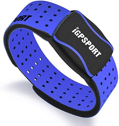 心拍計アームバンドiGPSPORT HR60 ANT +およびBluetooth付き光学式心拍数センサー (ブルー)