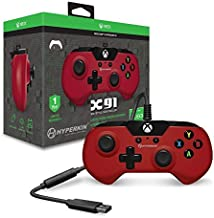Hyperkin X91 Wired Controller for Xbox One/ Windows 10 PC (Red) - Officially Licensed by Xbox