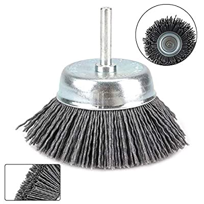 "3inch?75mm?Nylon Abrasive Cup Brush with 1/4"" Shank Grit 80 180 240"
