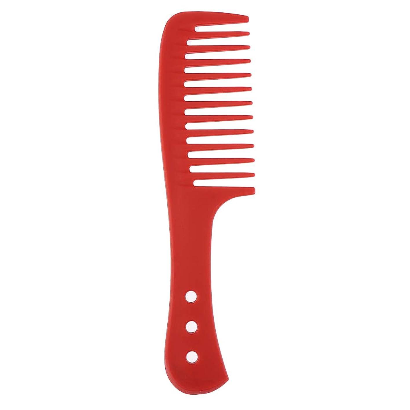 水星白雪姫パンチポータブル理髪広い歯の櫛巻き毛のDetangler頭皮マッサージブラシ - 赤