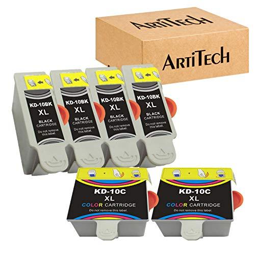 Replacements for Kodak 10XL 10B 10C Compatible Ink Cartridge (4 Black, 2 Color) Use for Kodak 5100 5300 5500 ESP3250 ESP5250 ESP3 ESP5 ESP7 ESP9 Hero 7.1, 9.1 Printers