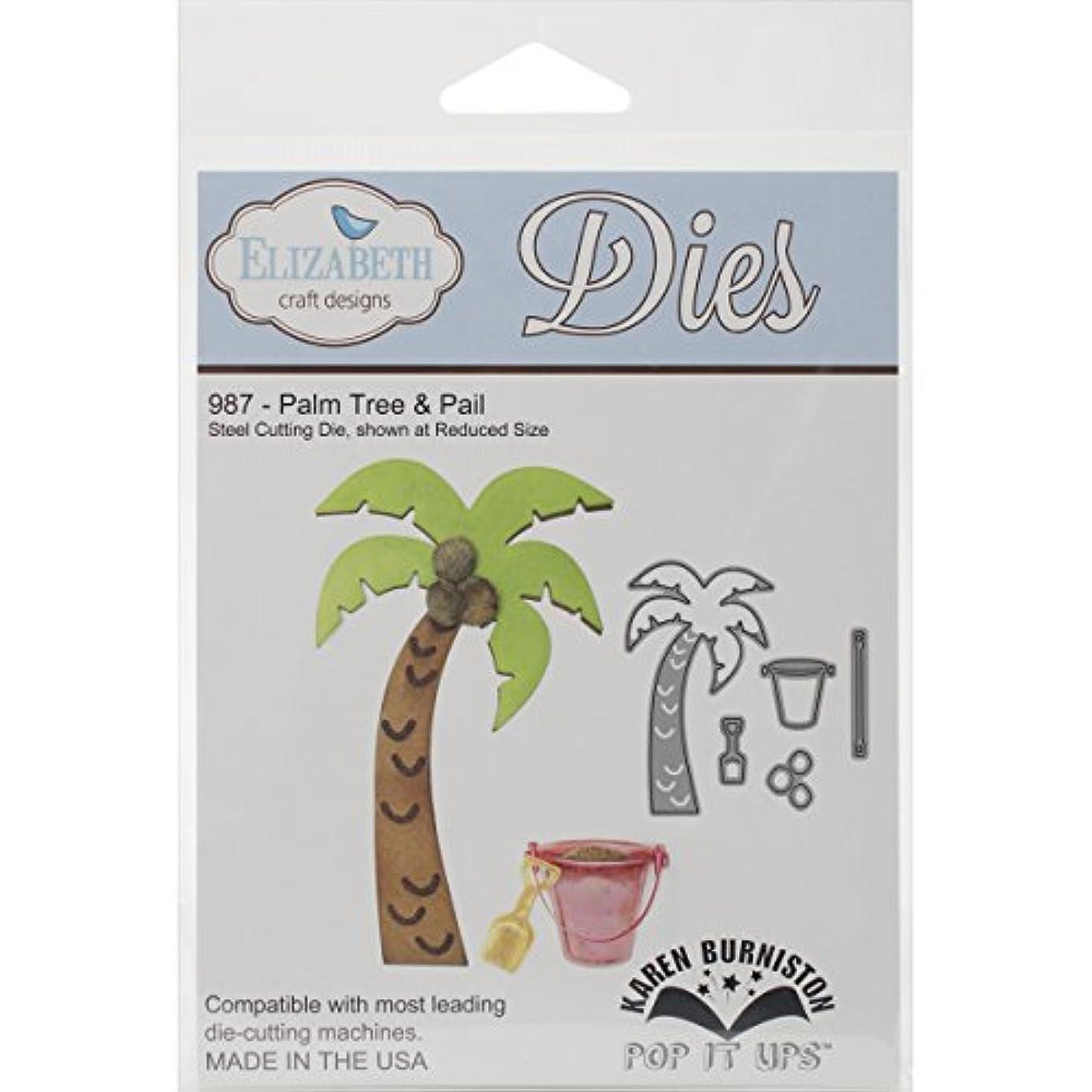 Elizabeth Craft Designs Steel Cutting Die, Palm Tree and Pail bxg6818381