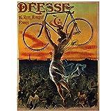Wsxyhn Deesse 16 Rue Paris DS Bicicleta Belleza Postura Memoria Lienzo Póster Pared Hogar Bar Carteles Decoración Regalo-50X70Cm Sin Marco