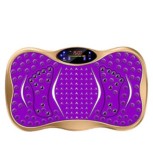 Fnho Plataforma Vibración Ultra Delgado,Plataforma Vibratoria Oscilante,Máquina de Adelgazamiento Lazy Shake, Fitness doméstico-Golden