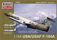 ミニクラフト 1/144 アメリカ空軍/海軍 F-104A プラモデル