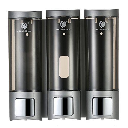 Seifenspender zur Wandbefestigung Manual Seifenspender mit doppelseitigem Schaumklebeband Wand-Shampoo-Box für die Dusche Duschgel Flüssigseifenspender Restroom Waschraum WC-Seifenspender & Halter