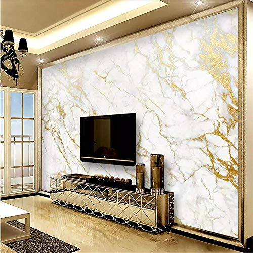 Wandbild Tapeten Wandtattoosbenutzerdefinierte Tapete Wandbild Gold Seide Jazz Weiß Marmor Tapeten Wohnkultur Tapeten Für Wohnzimmer Papel De Parede @ 400 * 280 Cm