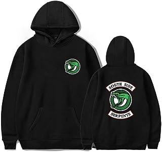 dd12c86ae29f6e MIYECC Unisex Riverdale Hoodie Southside Print Serpents Hooded Pullover  Sweatshirt Black