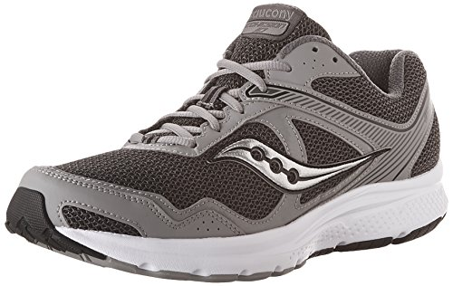 Saucony Men's Cohesion 10 Running Shoe, Grey/Silver, 11 W US
