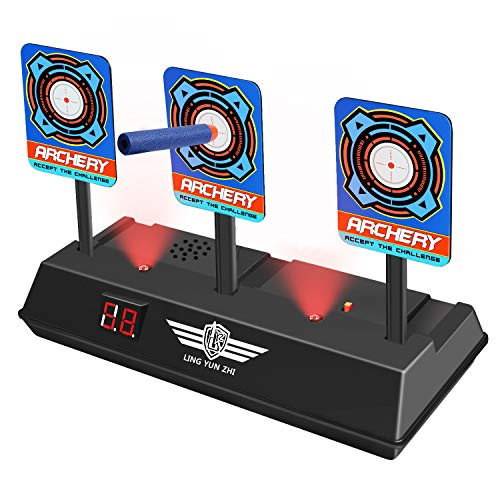 Tesoky Shooting Digital Nerf Guns Targets Toys for Boys Age 513 Cool Toys for Boys Outdoor Toys for 513 Year Old Boys Outdoor Toys for Kids 812 Xmas Gifts HDUSST01