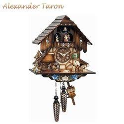 Alexander Taron 463MT Engstler Weight-Driven Cuckoo Clock-Full Size-13 H x 11 W x 7 D, Brown