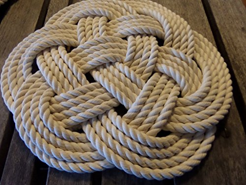 Cotton Rope Place Mat Knotted Nautical Decor Centerpiece