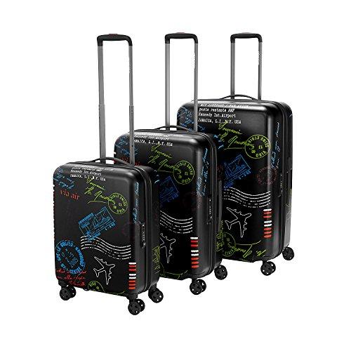 reisenthel Suitcase SPE-Set Stamps Suitcase L: Maße: 50 x 75 x 30 cm/Volumen: 95 l/TSA Lock Kombinations-Schloss/Gewicht: 4,0 kg