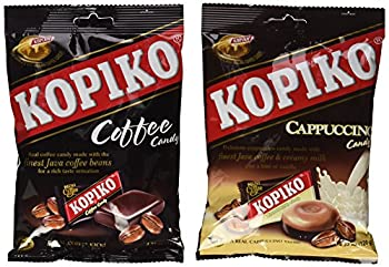 Kopiko Candy Variety Pack  Coffee and Cappuccino  4.23 Ounce  Pack of 2