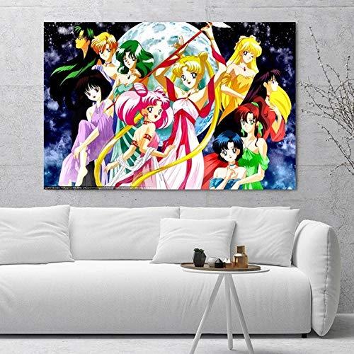 Animación Sailor Moon Rompecabezas de Madera 1000pcs Rompecabezas para niños Juguetes educativos de Madera para niños Rompecabezas de Regalo 50x75cm