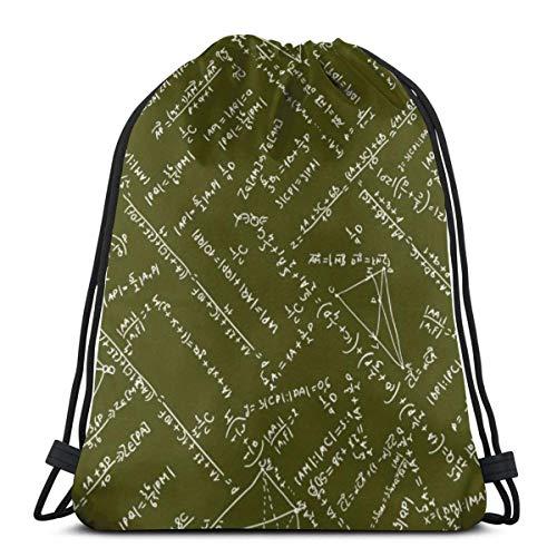 BXBX Trasportare Bags Maths Seamless Pattern Shopping School Bags Rucksacks Drawstring School Gym PE Book P E Eco Friendly Shoppers