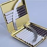 HSJDP Zigarettenschachtel USB Lade Metall Kreative Mode Ultradünne Zigarettenetui,B