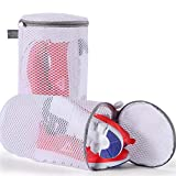 Kimmama Shoes Wash Bags Sneaker Mesh Washing Cleaning Bag 125gsm Net Fabric Durable and Reusable Wash...