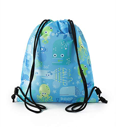 361º Drawstring Bag for Kids Water Resistant Cinch Boys Girls Swim Backpack Dry Wet Compartments Pink Blue Children Beach Bag Sack pack for Pool School Camping