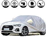 Funda Toldo Coche Exterior - Lona Car Cover Impermeable con A-u-di Q3 Sedan - Anti-UV Transpirable Resistente Al Polvo Lluvia Rasguño Nieve Al Aire Libre