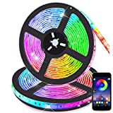 Bluetooth Striscia LED RGB Musicale 10M Autoadesiva Strisce Luminosa 12V LED Strip RGB Imp...