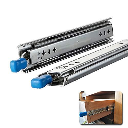 XYNH Schubladen VOLLAUSZUG 300 800 Mm Schubladenauszug SCHWERLAST Tragkraft 120 Kg Schubladenschienen Teleskopschienen 2 Stück Kugelführung