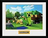 GB Eye Ltd Minecraft, ozelot Chase Kunstdruck, gerahmt,