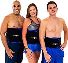 WeightLoss-Solutions Waist Trimmer Slimming Sauna Belts to Burn Belly Fat for a Slimmer Waist Black