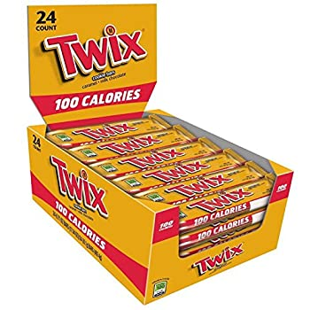 Twix 100 Calories Caramel Chocolate Cookie Bar Candy 0.71-Ounce Bar 24-Count Box