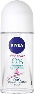 Nivea Fresh Flower Deodorant Roll-On Aluminum Free 50 ml / 1.69 fl oz