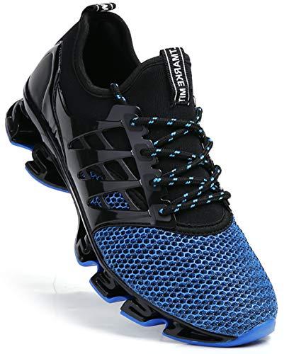 Tênis esportivo masculino TSIODFO para corrida e caminhada, Blue 8066, 9.5