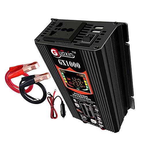 Inversor de corriente de 500 W CC 12 V a CA 220 V adaptador inversor de corriente de onda sinusoidal pura convertidor de potencia