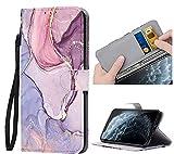 ZhuoFan Funda para iPhone XR Carcasa de Cuero PU con Tapa Flip Case con Soporte/Ranura de Tarjeta Cubierta Premium Magnético Suporte TPU Protectora Tipo Libro Fundas para Apple iPhone XR 6,1', Mármol