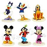 Mickey Cake Topper, 6 Piezas Mickey Figuras Decorativas para Tartas Fecoración Para Tarta Decoración Tartas para Niños, Cumpleaños, Bebés, Niñas