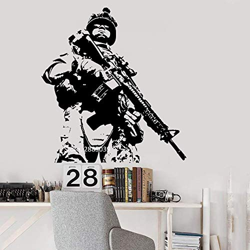 wopiaol Heißer US Soldat Wandbilder Kunstwand Vinyl Decor Wandaufkleber Marine Army Military Garantiert Top Qualität Wandtattoos L L 84 cm x 90 cm