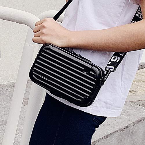 WRJ Travel Multifunctional Cosmetic Bag, Mini-Suitcase Crash Proof/Waterproof Handbag Portable Travel Bag for Ladies And Girls Organizer with Zipper,Black