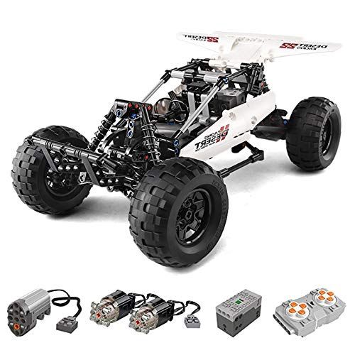 Mould King 18001 Technik Buggy mit 3 Motoren, 394 Teile, Technic Ferngesteuert Extreme Off-Roader Modell Bausteine, Kompatibel mit Lego Technik