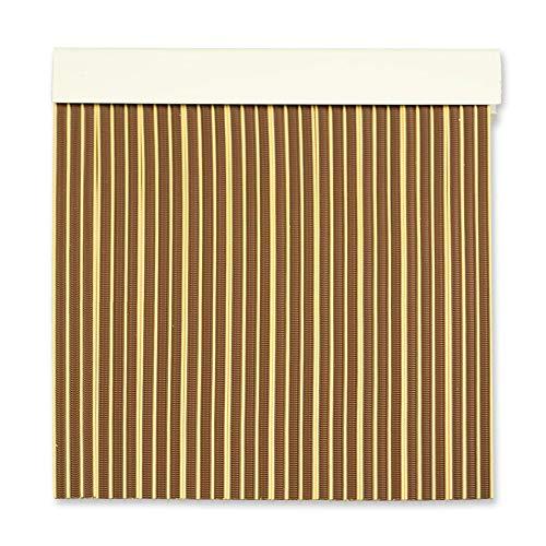 Cortinas Exterior Puerta | Material Plastico PVC y Barra Aluminio | Ideal para Terraza y Porche | Antimoscas | Marron-Beige | 210 * 90