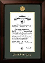 "Campus Images ARCLG00111x14 Army Certificate Legacy Frame with Gold Medallion, 11"" x 14"""