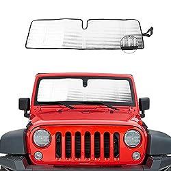 top rated Jeep Wrangler Bicon Sahara TJJK Wind Shield Sun Visor Heat Shield Sun Visor Mat… 2021