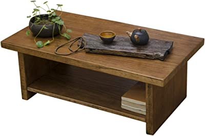 Coffee Tables Multi-Function Coffee Table Home Solid Wood Small Table Tatami Coffee Table Living Room Brown Small Table Balcony Bay Window Table Antique Go Low Table