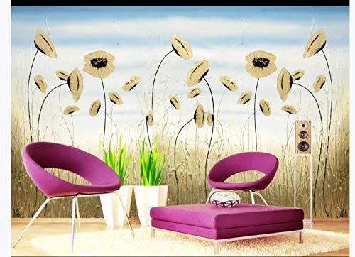 Tijdelijk behang muur Art Stickers muur stickers hieronder geheugen Scandinavische IKEA Abstract olieverfschilderij bloem behang achtergrond muur 150cmx105cm