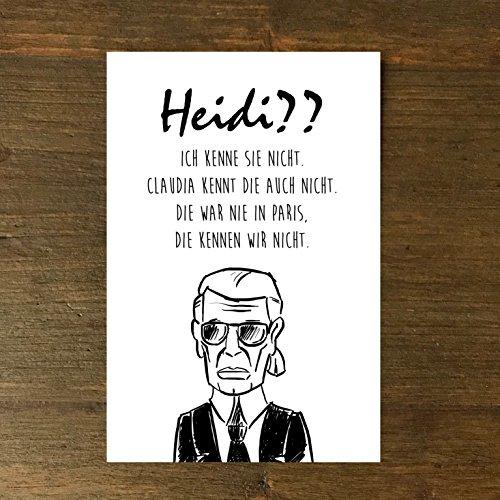 Karte, Grußkarte, Geburtstag, Karl Heidi?? handgezeichnet