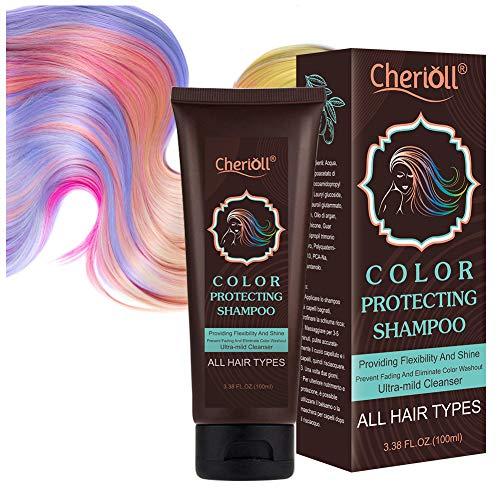 Color Schutz Shampoo,Farbschutz-Shampoo, Color Protect Shampoo, Color-Glanz Pflege-Shampoo, Haarwäsche für Gefärbtes Haar, Haarwäsche mit Arganöl, Feuchtigkeitsspendend und pflegend