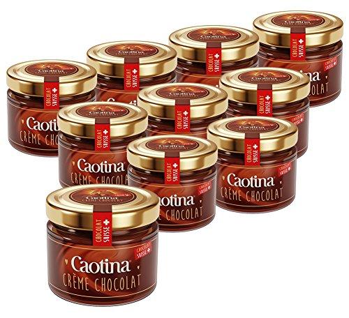 10er SET Caotina Crème Chocolat Brotaufstrich 300 g / Schokocreme / Schokoaufstrich / Schweizer Schokolade