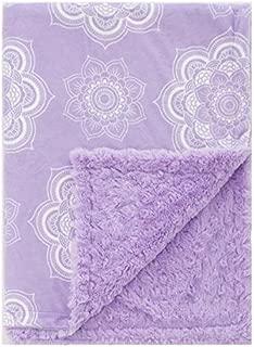 Baby Laundry Purple Orchid Mandala Minky Throw Blanket (42