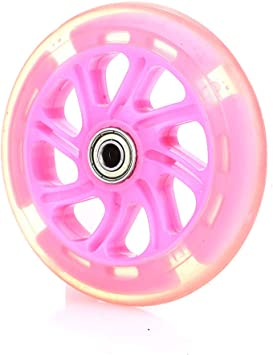 Rosepoem Scooter luz Rueda-LED Scooter Ruedas con 120 mm ...