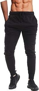 Pantalones ajustados para hombre, para correr, ir al gimnasio o entrenar, con tobillos ceñidos, de forro polar, informal
